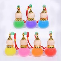 Wholesale Car Ornaments Empty ml Gourd Crystal Perfume Bottle styling Pendant hanging gourd Car Glass Perfume Bottle Pendant Empty