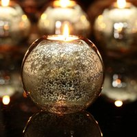 Wholesale New Item Sale Mercury Glass Ball Candle holder Table Holders Candlestick Wedding Party Festival Event Decoration centrepiece