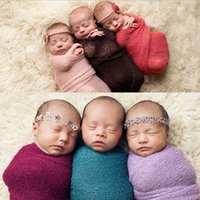 Wholesale Crochet Baby Basket - 2016 Newborn Baby photography photo props Crochet Wraps mohair Basket Stuffer blanket Parisarc Robes Wrapped Yarn Cloth creative mother
