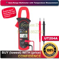 Wholesale UNI T UT204A DC AC Voltage Current Digital Clamp Meter with Resistance Capacitance Frequency and Temperature Measurment