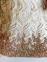 Wholesale High quality african tulle lace fabric sparkling sequins french net lace fabric for wedding party dress JYN116