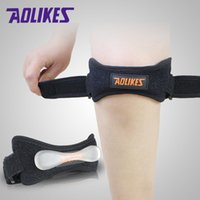 Wholesale Hot sale Aolikes Adjustable Jumpers s Knee Patellar Silicone damping Strap Band Knee Support Brace Pads Fit Running basketball Outdoor Sport