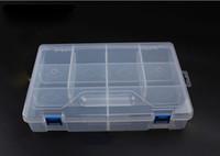 Wholesale mm Transparent Ten Grid Tool Parts Box Convenient Carry Detachable PP Storage Small Objects Accessories Box F Shape