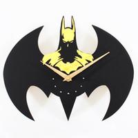 Wholesale Fashion New Creative Cartoon Bat Quartz Wall Watch