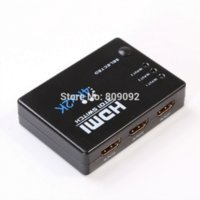 adapt picture - 3in out K K HDMI Switch Hub Splitter Switcher Adapter HD for HDTV IR Remote Cheap adapt picture