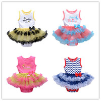 Wholesale Baby Infant Girl s Tutu Skirt Cute Sleeveless Letter Print Dress Birthday Princess Party Dress for M