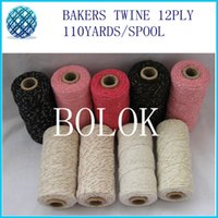 bakers metal - add gold sliver copper red metallic Cotton Baker twine kinds color gold twine metal spool