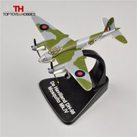 Wholesale Atlas Fighter WW2 British Attacker De Havilland DH Mosquito MK IV Alloy Airplane Model Diecast Toys Juguetes Collection