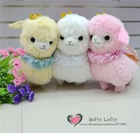 alpaca capes - AM Alpaca plush toys cm kasso Prince with crown and cape cute warm stuffed animals colors Size L