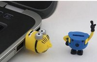 usb flash drive novelty - 8GB novelty cartoon Minions Despicable Me USB usb flash drive pendrive memory stick with retail package