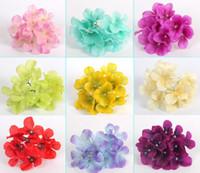 artificial sunflower bouquet - 100pcs quot Hydrangea Artificial Silk Flower Heads For Wedding Home Bridal Bouquet Decoration Color For choose
