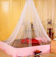 Wholesale Elegant Classical romantic sweet princess students Outdoor hang dome mosquito nets Round Lace Insect Bed Canopy Netting Curtain