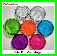 Wholesale DHL Free Colorful Oz Yeti Cups lids Splash Spill Proof Covers Yeti Oz RTIC Ramber Tumblers Cups Replacement Leakproof Lids Covers