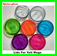 Wholesale DHL Free Hot Colorful Yeti Cups lids Splash Spill Proof Covers Yeti Oz RTIC Ramber Tumblers Cups Replacement Resistant Proof Cover Lid