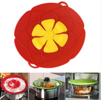 Wholesale Fashion Hot Multi function Silicone lid Spill Stopper Silicone Cover Lid For Pan Cooking Tools Flower Cookware Parts