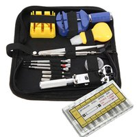 Wholesale Brand New Repair Tool Kit Set Watch Watchmaker Opener Remover Spring Pin Bar w Case Watch Accessories