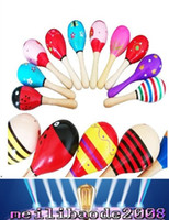 Wholesale Kids Children Toy Musical Instrument Maraca Wooden Percussion Instrument Musical Toy for KTV Party New Arrival MYY
