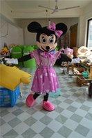 El vestido de lujo caliente del traje de la mascota del ratón de Mickey Minnie de las ventas libera el envío