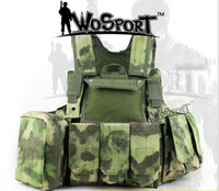 Wholesale Outdoort Hunting Fishing Accessories Camouflage Vest Amphibious Multi Pockets Tactical Molle Plate Carrier Amphibious Vest Field Vest hardc