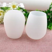 Wholesale The factory price Unbreakable clear Rubber Wine Glass silicone wine glass silicone wine cup wine glasses