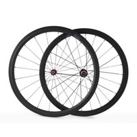 Wholesale Newest c mm Clincher Road Bike Carbon Wheels Ultra Light Bicycle Wheels Front Rear Wheelset