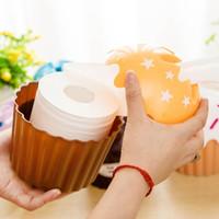 Wholesale Home use paper towel tube tissue bucket box tissue pumping box random color