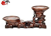 Wholesale Wood Crafts base ornaments mahogany shelf bracket round rectangle size No