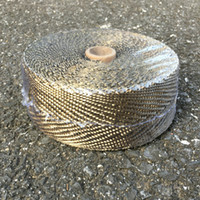 Wholesale 2 quot x Roll Titanium Fiber Exhaust Header Heat Wrap With Pieces Of Stainless Ties Kit