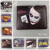 bat purse - 22 Designs DC Comics Cartoon Canvas Leather Wallets Superman Logo Wallets Batman Bat Purse LJJL141