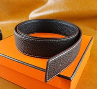 active card gold - High quality cowskin genuine leather designer belt for men and women brand waist Belts wtih gold or silver H buckle with box card invoice