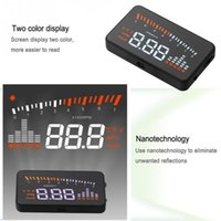 Wholesale X5 inch Automatic OBD II EUOBD Car Head Up Display Speed Temperature Warning System