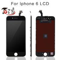 Apple numériseur France-5PCS / LOT Pas de Pixel mort pour IPhone 6 4.7 écran LCD Touch Screen Digitizer Assemblée Remplacement Noir ou Blanc