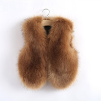 beautiful fur coats - Hug Me Girls Fur Vest Coat Waistcoat kids New Autumn sleeveless Fashion Beautiful Fashion Vest AA