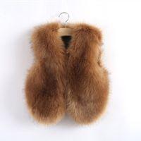 beautiful winter coats - Hug Me Girls Fur Vest Coat Waistcoat kids New Autumn sleeveless Fashion Beautiful Fashion Vest AA