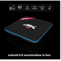 Wholesale high quality HD kTV box H96 update amlogic s912 Android K Octa Core GB GB G GHz Dual WIFI Kodi Pre installed dhl free