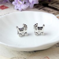 big prams - Alloy Charm Bead Big Hole Pram Stroller Silver Plated Fashion Women Jewelry European Style For DIY Bracelet Necklace PAB02