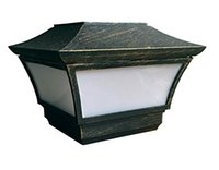aluminum solar panels - CHEEKON BE Solar Cast Aluminum LED Post cap Light Bronze Crystalline Solar Panel Rechargeable Battery Included