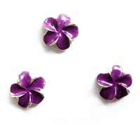 Wholesale purple Hawaii flower charms floating charms for living locket