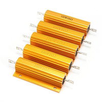 Wholesale 100W Aluminum Case Wire Wound Power Resistor Metal Shell Supply Inverter Top Quality