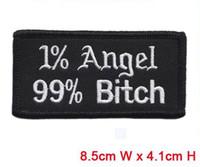 al por mayor letras de los ángeles-La perra del ángel remite el hierro de los remiendos en el uso de la frontera del corte caliente en sombrero o bolso de paño el envío libre puede ser aduana