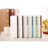 Wholesale Doshin Power Bank mAh USB LCD Display Dual LED Light External Battery Portable Charger powerbank For all phone