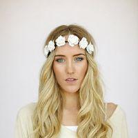 Wholesale Flower Crown Wedding Accessories Bridal hair ring Bohemia Handmade Wedding Wreath Bridal Headdress Head Wrap Hair Circle