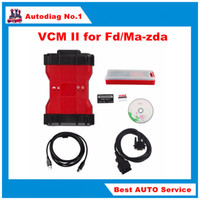 automotive green - 2016 Newly V98 VCM II in IDS Diagnosis tool For Fd Mazda VCM VCM2 OBD2 Scanner Single Green PCB with plastic Suitcase