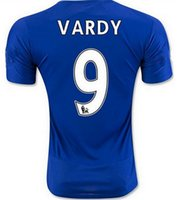 Wholesale 16 premier league Leicester City home jersey top quality write size S M L XL in your order