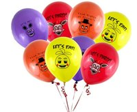 ballons free - 100pcs Five Nights At Freddy s FNAF Party Balloon colors mixed ballons figure toys
