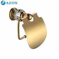 Wholesale AZOS Wall Mounted Toilet Paper Holders Nickel Brush Finish Gold Color Toilet Accessories Bathroom Shower Hardware Components GJQC2205A