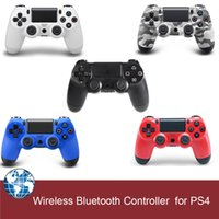 Wholesale for ps4 controller wireless bluetooth gamepad game controller for PS4 with touch pad colors with retail box free drop shipping
