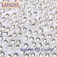 Wholesale Good Quality SS5 Clear Crystal Glue Fixed Nail Art Non Hotfix Rhinestones