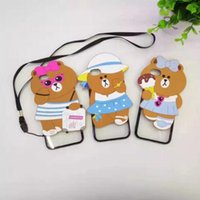 bear skin hat - Newest iPhone Plus D Cartoon Choco Bear Ice Cream Glasses Hat Cases Silicone Soft Cover Case for iPhone S Plus Cute Lovely Skin
