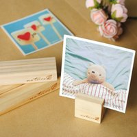 Wholesale Zakka Creative Wooden Memo Clip Desk Greeting Cards Gift Cards Postcard Message Folders Notes Folder Clip Simple and Tidiness